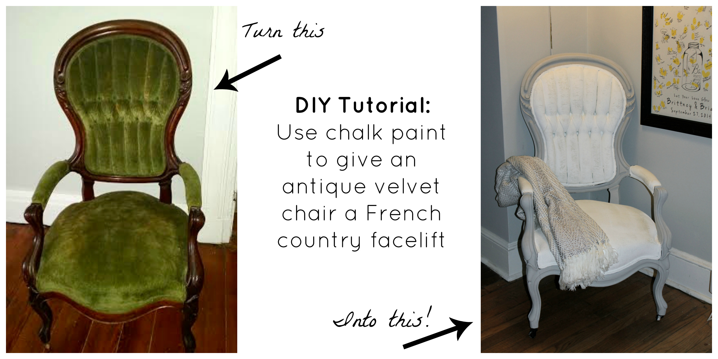 Diy Antique Chair Facelift With Chalk Paint My Kind Of Glam