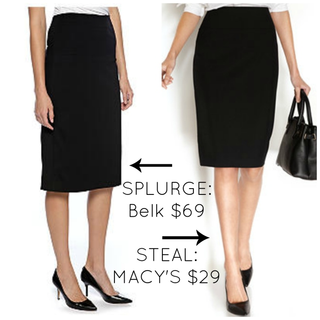 Black Pencil Skirt Claire Underwood Style