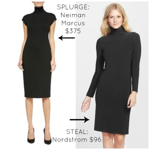 Black Turtleneck Dress Claire Underwood Style