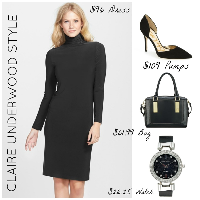 Claire Underwood Black Turtleneck Style