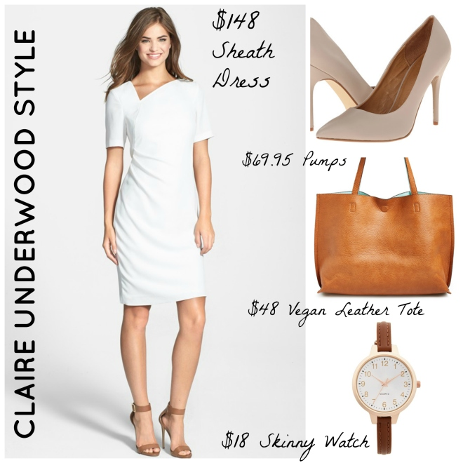 Claire Underwood White Dress Style