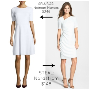 White Sheath Dress Claire Underwood Style